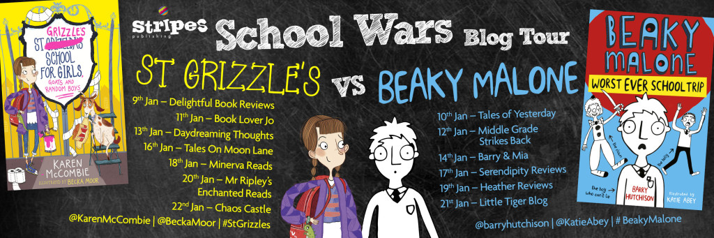 Beaky v Grizzles Blog Tour Banner