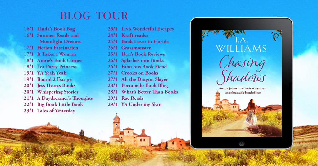 Chasing Shadows blog tour 2