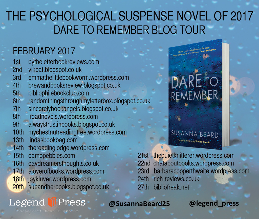 Dare to Remember Blog Tour Banner