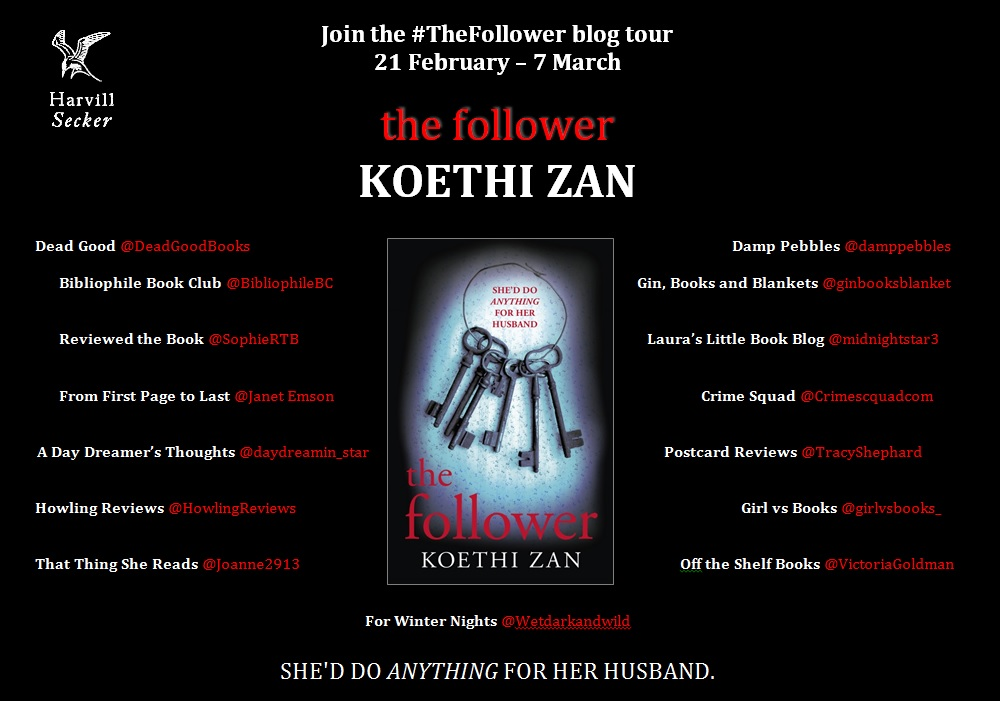 THE FOLLOWER blog tour poster